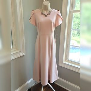 NEW! Calvin Klein Pink Midi Sheath Dress - 8
